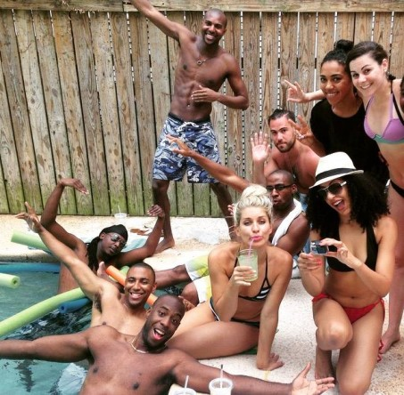 Poolside shenanigans in New Orleans