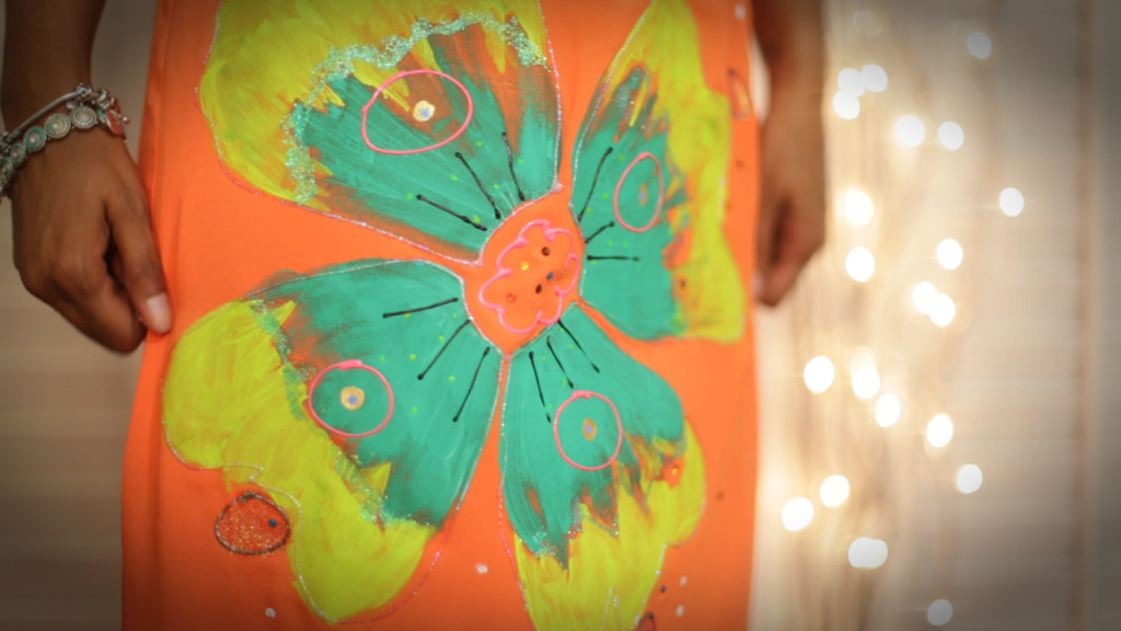 8tavva - orange chiffon dress