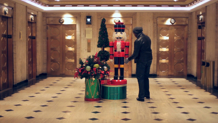 Palmer House Hilton decorated for the holidays