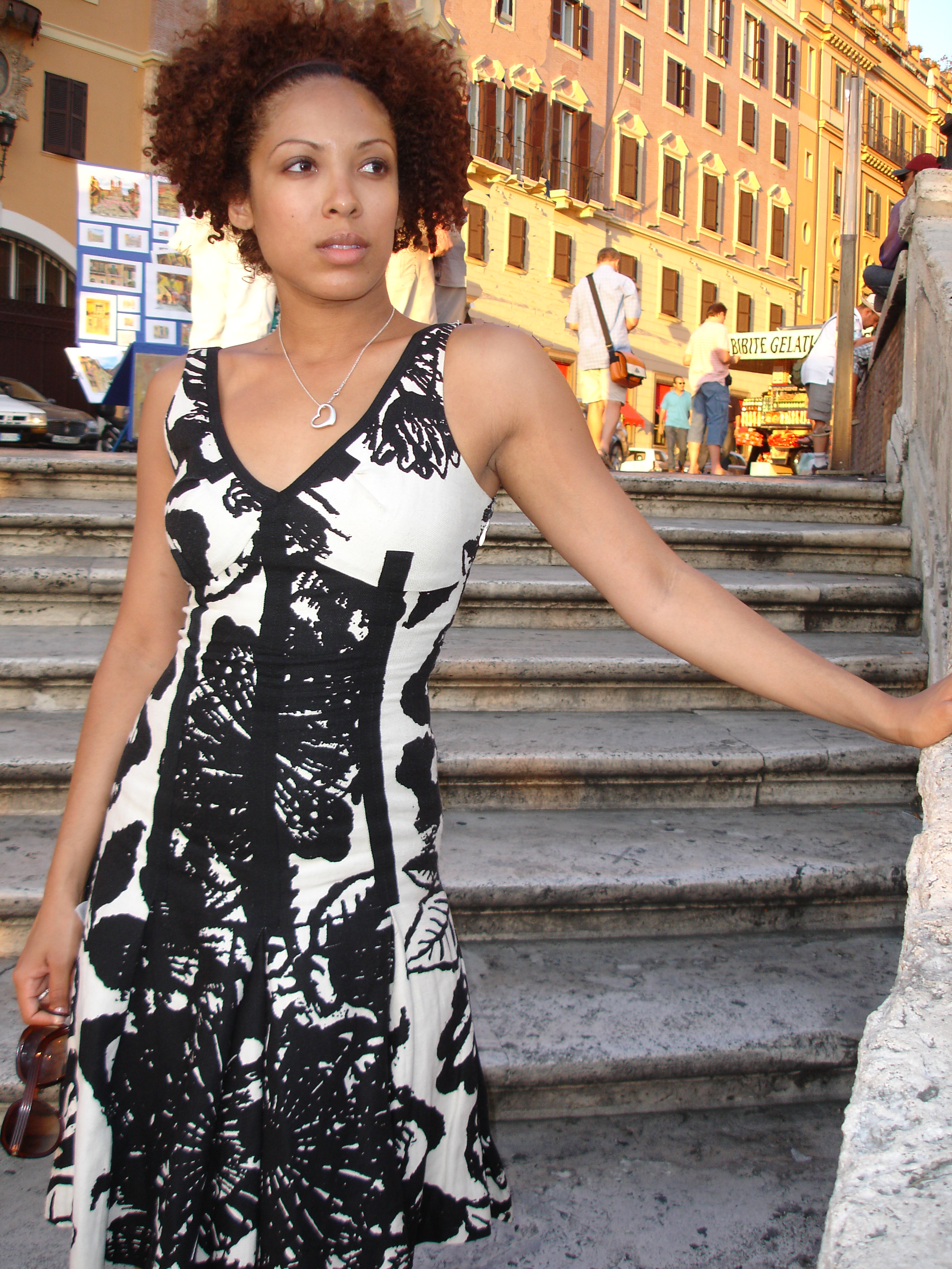 My sister Jasmine on the Spanish Steps