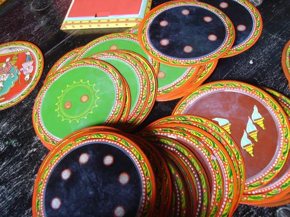 Handcrafted ganjifa cards