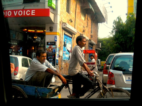 Crowded streets of Delhi