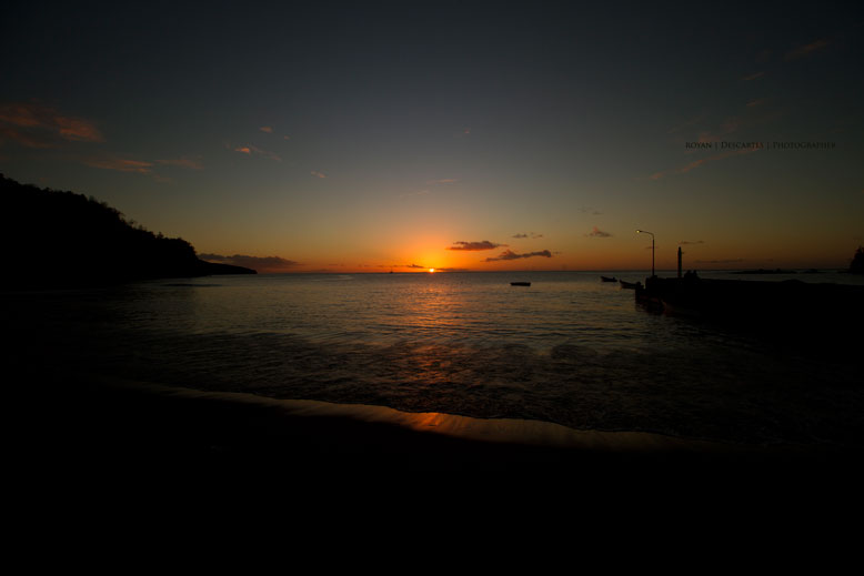 Royan Descartes: Anse La Raye sunset