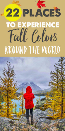 22 Places Around the World to See Fall Colors