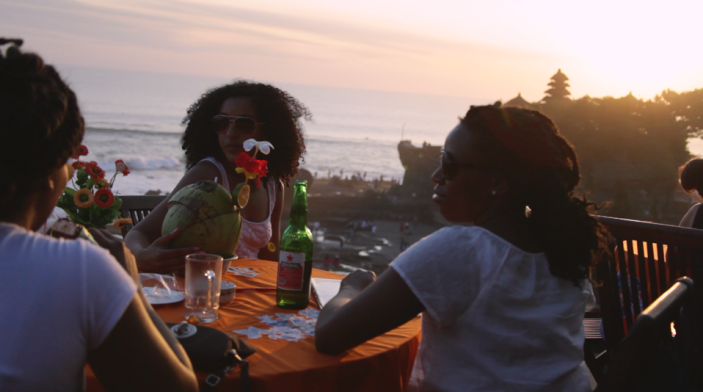 Jannae, Coribbia, and I enjoying a sunset in Bali