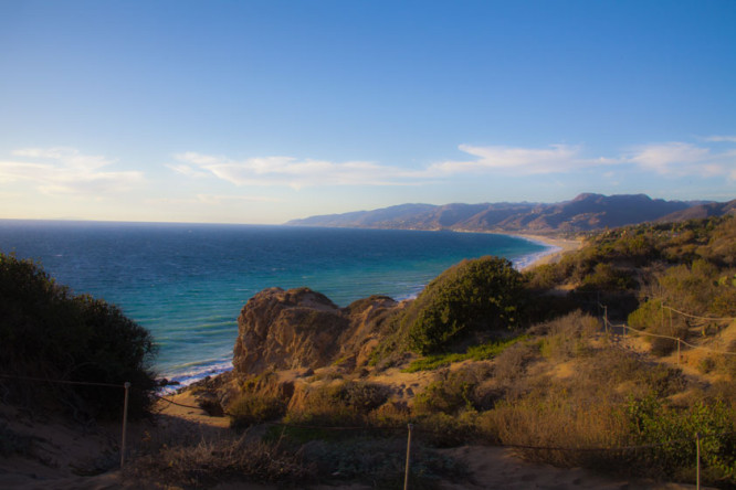 Hiking up Point Dume