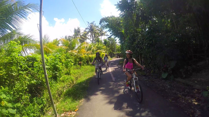 Bike tour of Bali