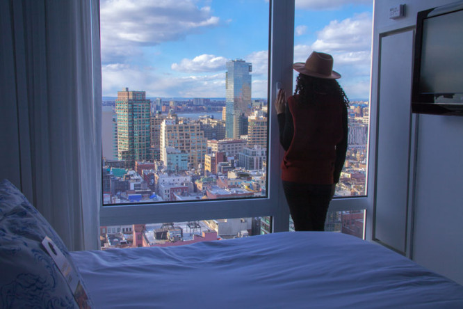 Nomo Soho penthouse bedroom view