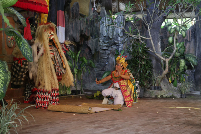 Traditional Barong dance in Ubud, Bali. Sustainable Travel Tip: Book Unique Cultural Experiences