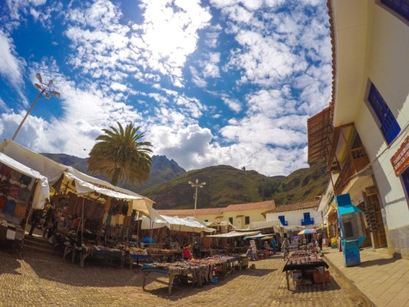 Pisac market in the Sacred Valley of Peru