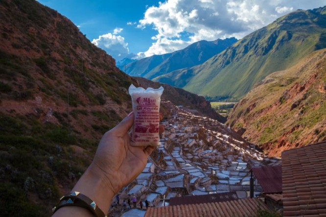 Salt from Salineras, the Salt Mines of the Sacred Valley in Peru