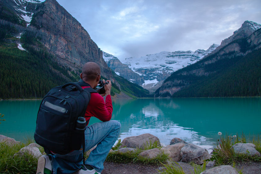 Photographing Lake Louis in Banff, Canada