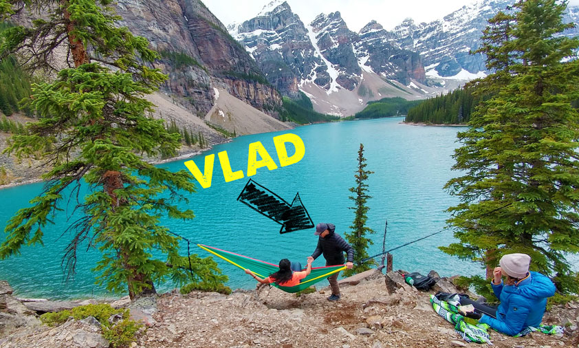 Top 15 Banff Attractions: #11. Bring a hammock to Moraine Lake. This guy Vlad let me borrow his!