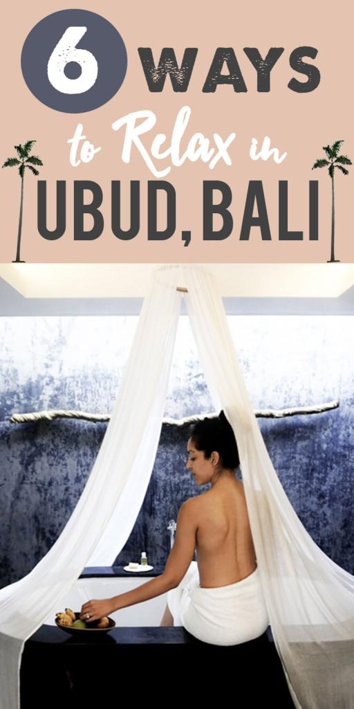Relaxing in Ubud, Bali for our honeymoom