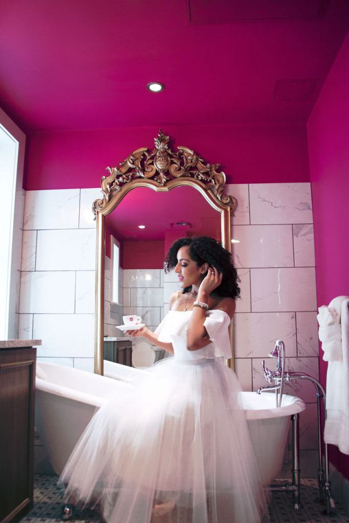 Birchwood Hotel bathroom   Shop the Look on my blog