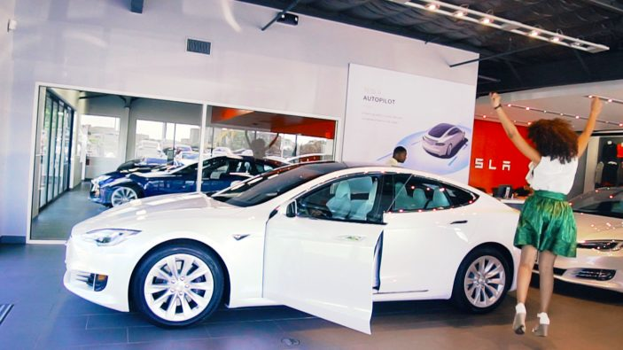 Tesla Model S delivery day