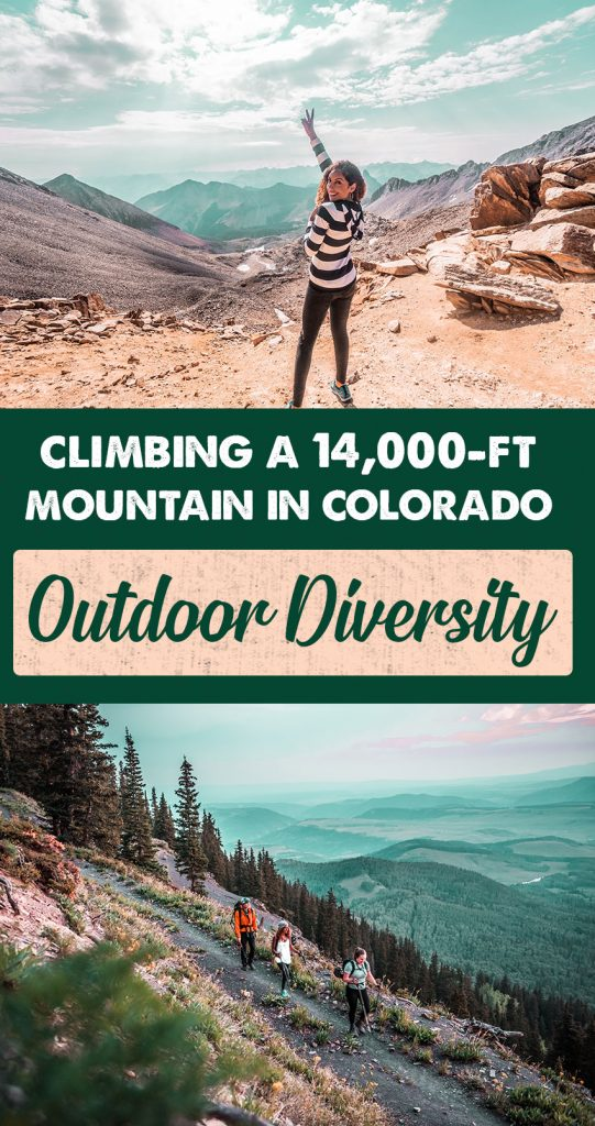Diversity in the Outdoors: Climbing Wilson Peak, a 14000-ft Mountain