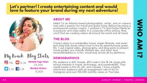Media Kit - Ashley Renne - Travel Lushes - Page 2