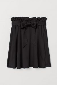 H&M black skirt with tie