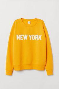 H&M yellow New York sweatshirt