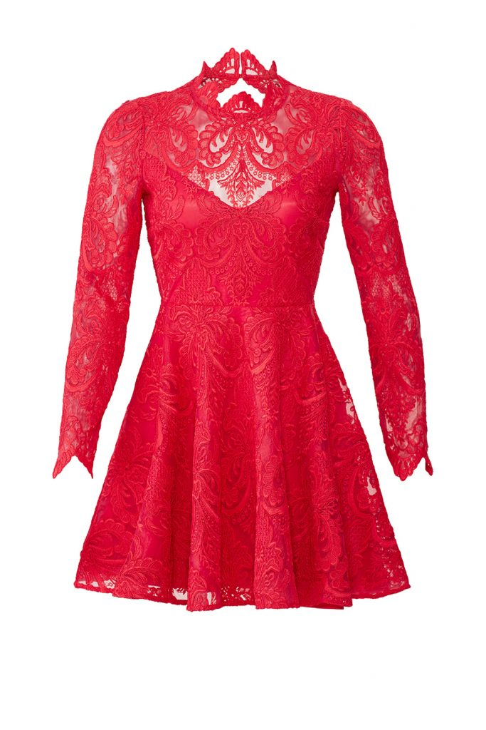 Rent the Runway Red Lace Dress - Saylor Raspberry Rita