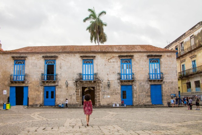 Plaza de la Catedral in Havana, Cuba
