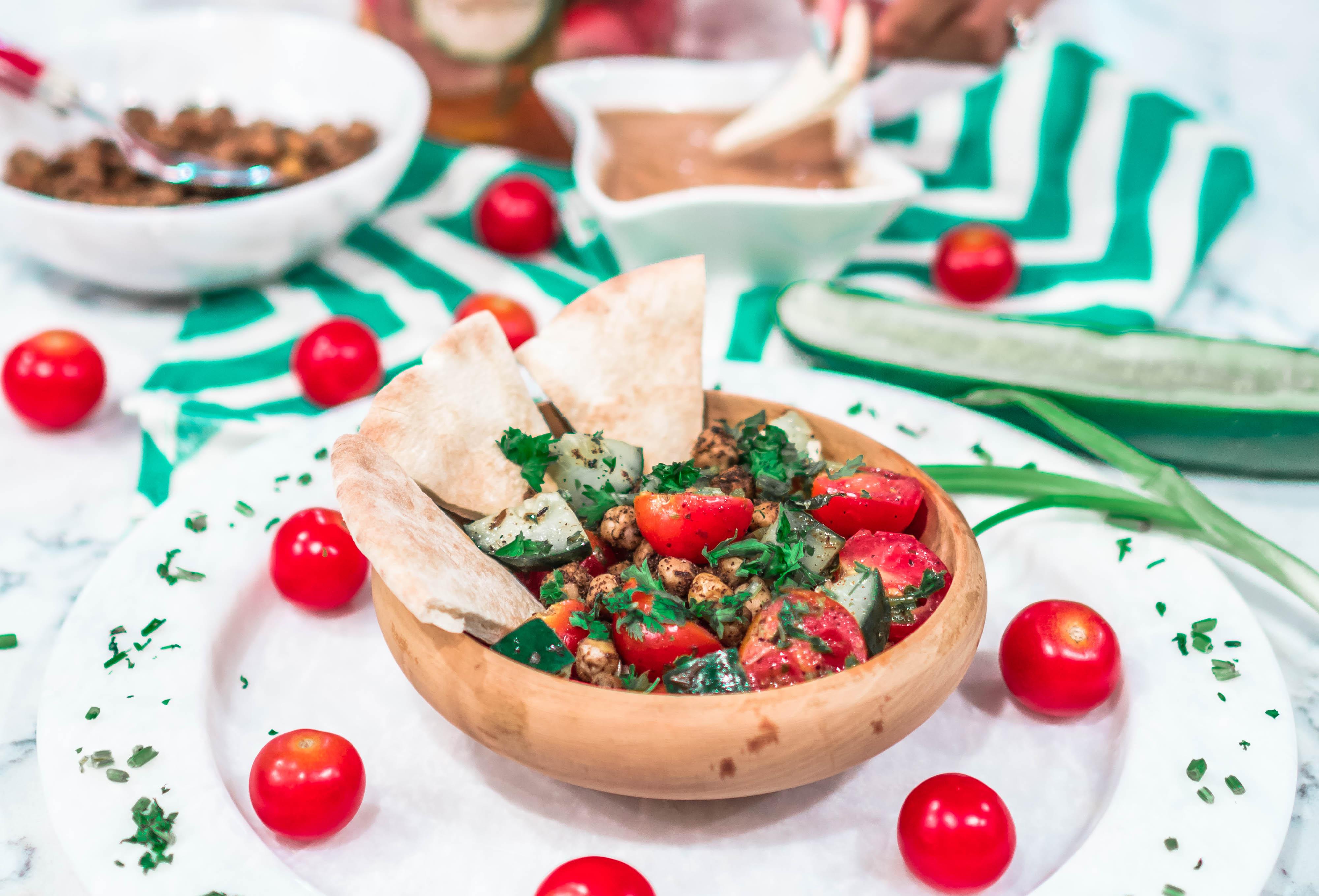 Easy Vegan Israeli Salad Recipe